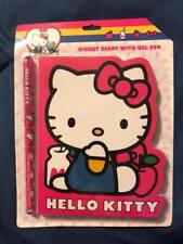 Hello Kitty Diecut Diary With Gel Pen 60 Sheets New 40th Anniversary Sanrio