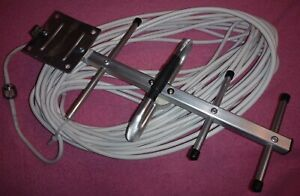 cell Signal booster with Directional Yagi Antenna Mobile N-Male to SMA 25m Cable