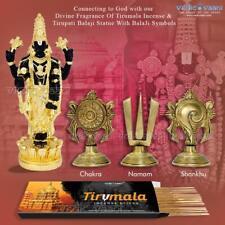 Vedic Vaani Tirupati Balaji Black Statue with Shankh Chakru & Incense - 100 GM