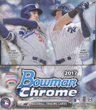 2017 Bowman Chrome Baseball Hobby Box FACTORY SEALED 12 PACKS & 2 AUTO'S PER BOX