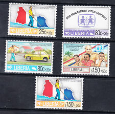 Liberia # B26-30 Complete 1995 Christian Assn. of the Blind Semi Postal Set