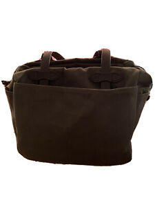 Filson  - Rugged  Tote Bag with Zipper - Otter Green - EUC