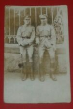 W.W.1. /  W.W. 2 MILITARY POSTCARD - REAL PICTURE SOLDIERS.