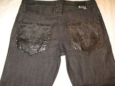 Antik Denim Jeans Low Straight Leg Black Sz 32 X 29  NEW