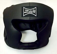 MMA Boxing Sparring Head guard Head Protector Head Gear Black Small