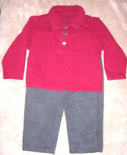 2T boys dark red CALVIN KLEIN JEANS shirt & dark gray jeans by MeXX