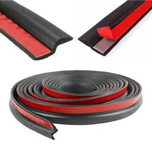 Universal Car Seal Strip Trim Door Window Black Rubber Weather Strip 4M Z-shape