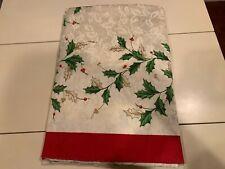 LENOX HOLIDAY  60 x 140  Tablecloth & 12 Napkins