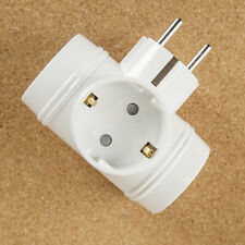 Power Strip 3 Outlets T Shaped Multiple Tap Adapter Socket Extender Electric