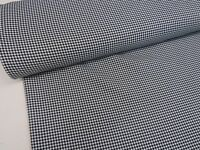 Houndstooth Dogtooth Check Black White Suiting PolyViscose Dress Fabric Material