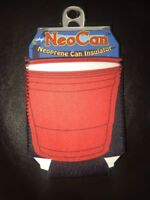 NeoCan Neoprene Can Insulator BEER KOOZIE cooler cozy New Free Shipping Red
