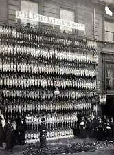 OLD PHOTO England Northamptonshire trader selling hundreds of plucked Turkeys