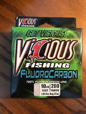 Vicious Clear 10 Lb Test Fluorocarbon Fishing Line