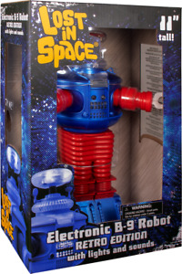 """Lost in Space - B9 Electronic Robot 11"""" Action Figure Retro Edition By Diamond"""