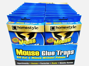 Glue Traps for Mice, Rats, Snakes, Insects (4 Pack Box-3 Boxes included)