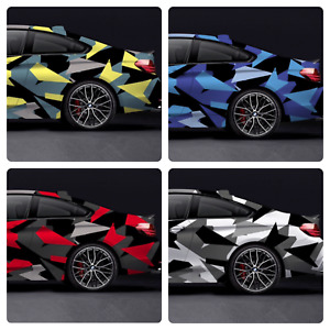 Triangle CAMOUFLAGE Vinyl Film Wrap DIY Waterproof Auto Motorcycle Car