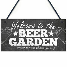 Welcome Sign Beer Garden Signs Wall Pub Garden Plaques Alcohol Friendship Gift