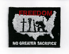 FREEDOM NO GREATER SACRIFICE HAT PATCH US ARMY MARINES NAVY AIR FORCE MEMORIAL
