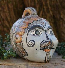 Old Style Traditional Face Bank Handmade Tonalá Pottery Jalisco Mexican Folk Art