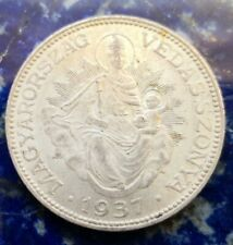 More details for 1937 hungary silver 2 pengo #130