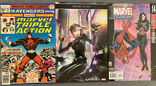 Group Of 3 Black Widow Comics Including First Appearance Of Red Guardian Reprint