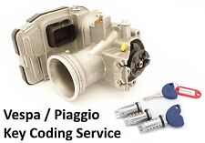 Vespa GTS, GTV, GT, Super IE 125, 250 300 Throttle Body Key Chip Coding Service.