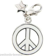 Tingle Peace Clip on Sterling Silver Charm with Gift Box and Bag SCH189