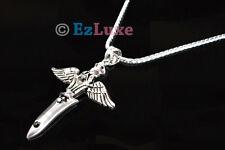 Korean TV Tohoshinki TVXQ DBSK Winged Dagger Necklace
