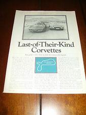 1982 Corvette vs. 1962 Corvette *Original 1982 Article*