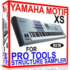 YAMAHA MOTIF XS For PRO TOOLS STRUCTURE Sampler Presets/Sounds 7 DVD'S 24GB