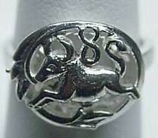 TAURUS Zodiac Astrology sign Jewelry ring Genuine Authentic Sterling Silver .925