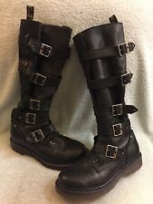 Dr Martens Phina The Walking Dead Knee-High Boots Buckles Women US Size 8L