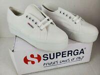 Superga Womens 2790A Platform White Fashion Sneaker Size US 10 EURO 41 1/2