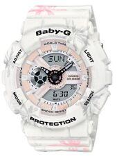 Casio Baby-G * BA110CF-7A Anadigi Summer Flower Pattern White Watch COD PayPal