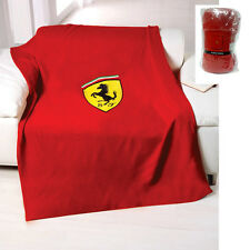 Scudetto Ferrari F1 Official Fleece Throw Blanket - Red - 125cm x 150cm