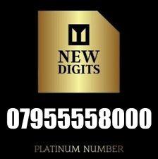 GOLD MEMORABLE VIP EASY UK BUSINESS MOBILE PHONE NUMBER SIM CARD 8000