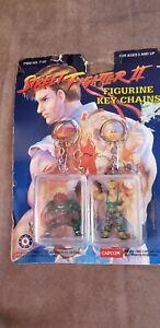 Street Fighter II Figure Keychains 2 Pack
