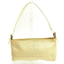 Fendi Shoulder bag Zucchino Beige White Woman Authentic Used Y3595