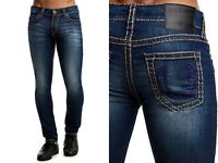 True Religion $299 Rocco Relaxed Skinny Multi Super T Jeans - 100542