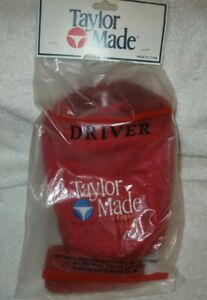 NEW !!! vintage TaylorMade acrylic driver headcover rare early 1980's era in red
