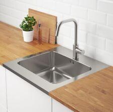 IKEA AMMERÅN Einbauspüle 1 Becken Spülbecken Küchenspüle Waschbecken +Siphon NEU