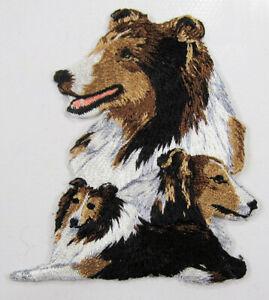 Shetland Sheepdog heat seal embroidered badge