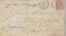 GERMANY 1870 COVER WITH 1g AND BREMEN CANCEL  MY REF 187