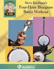 Steve Kaufman's Four-Hour Bluegrass Banjo Workout Sheet Music Book 000320170