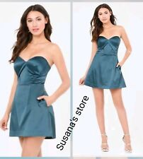 NWT bebe  Angela Sculpted Sweetheart Dress SIZE S Satin, stunning strapless $149