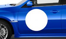 """3 X 15"""" círculos de fondo blanco Rally Coche Vinilo Pegatina De Puerta Redondo Carrera Deriva"""