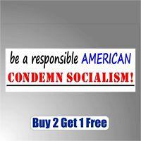 Condemn Socialism in America 2020 Trump Anti Bernie Sanders Bumper Sticker GoGo