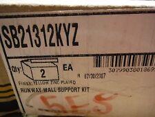 B-Line (SB21312KYZ) Runway Wall Support Kit (2pcs) Yellow