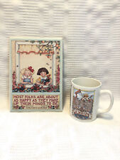 """Mary Engelbreit """"Most Folks� Wall Hanging Plaque+ """"The Queen Of Everything�Mug"""