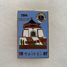 1987 70th Annual Lions Clubs International Convention Taipei Pin
